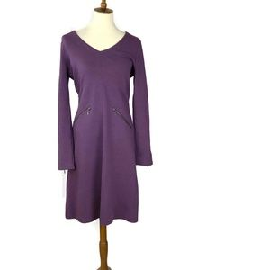 Athleta Celebration Dress Purple  Size M Zippers